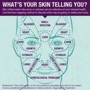 face reading map