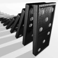 row of dominoes falling
